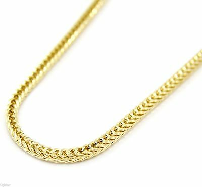 """Mens 14K Gold Plated Franco 4mm 36"""" Inch Necklace Hip-Hop Chain"""