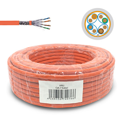 Cat 7 Netzwerkkabel Verlegekabel 100m Cat7 Kabel Halogenfrei Installationskabel
