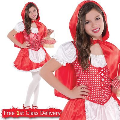 Kids Red Riding Hood Fancy Dress Costume Girls Book Week Outfit Age 4-10 Years