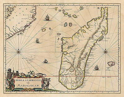 HJB-AntiqueMaps : Map of Madagascar from 1660