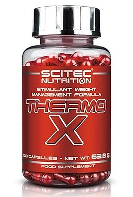 Scitec THERMO X 100caps. Thermo-X Stimulant Weight Management Formula - Free P&P