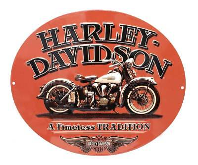 Harley-Davidson Embossed Timeless Vintage Motorcycle Tin Sign, Orange 2010781