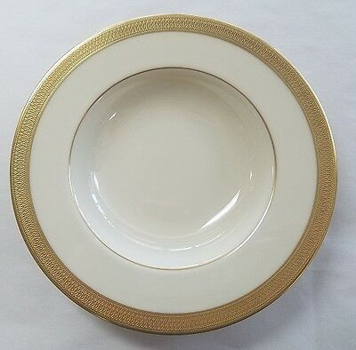 """LENOX china LOWELL Gold stamp Rimmed Soup, Salad or Pasta Bowl - 8-1/2"""""""