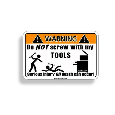 FUNNY MECHANIC WARNING EXTRACTOR JACK PULLER SHOP TOOL STICKER DECAL BG TOOL 607