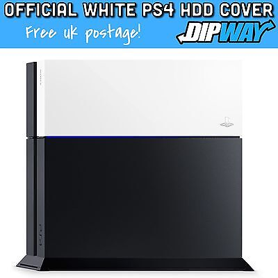 Genuine PlayStation 4 PS4 HDD Cover Custom Face Plate Glacier White Housing !