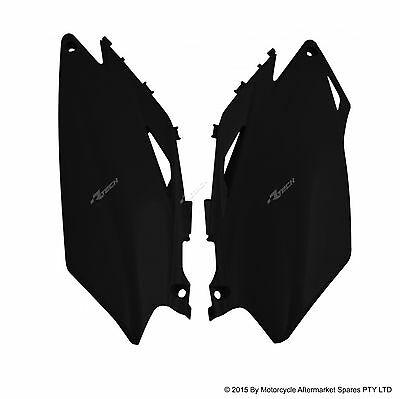 SIDE COVERS PANEL NUMBER PLATES BLACK FOR HONDA CRF250 CRF450  2009 to 2010