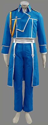 Fullmetal Alchemist Cosplay Costume Roy Mustang 1st Any Size