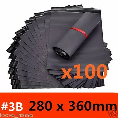 100x 280x360mm Plastic Satchel Courier Poly Mailer Self Sealing Mailing Post Bag
