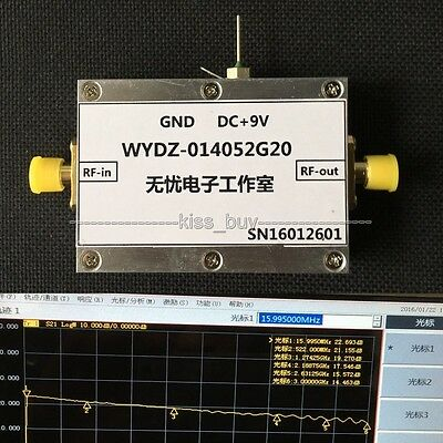 20MHZ--3GHZ 20dB low-noise Broadband RF amplifier Repeater receiver LNA FM VHF