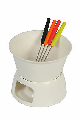 Ceramic Chocolate Or Cheese Fondue Set With Forks Kitchen Home