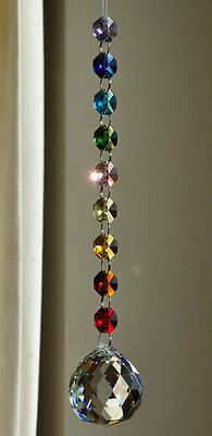 chakra crystal ball window suncatcher,meditation,rainbow maker,ornament decor