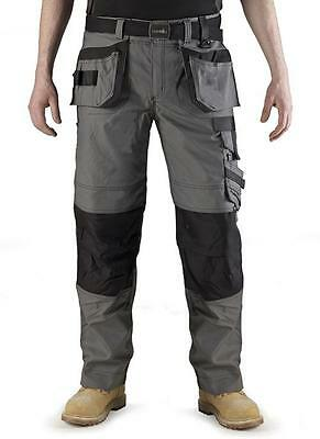Scruffs Grey Pro Trousers 2012 - CLEARANCE Work Pants NEW Heavy Duty