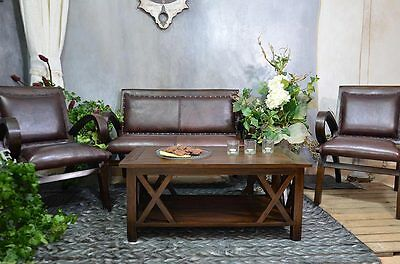 Console Table Desk Teakwood Brown Dressing Table Shelf Coffee Table Center