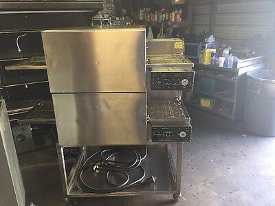 """Lincoln Impinger II 18"""" Double Stack Pizza Conveyor Oven 1133 1100 Series"""