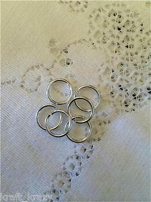 Pack Of 50 Small Silver Rings Wedding 5Mm Embellishments Cardmaking