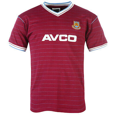 West Ham United FC Official Football Gift Mens 1986 1983 Retro Home Kit Shirt