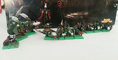 13x OLD WELL PAINTED GOBLIN & ORCS ARMY - WARHAMMER -