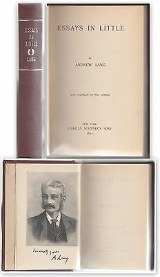 A. Lang- Essays In Little -New York 1891-L3646