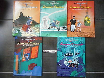 Eldoradodujeu Bd Lot- Tribulations De Louison Cresson 1-2-3-4-5 - Dupuis Eo* Tbe