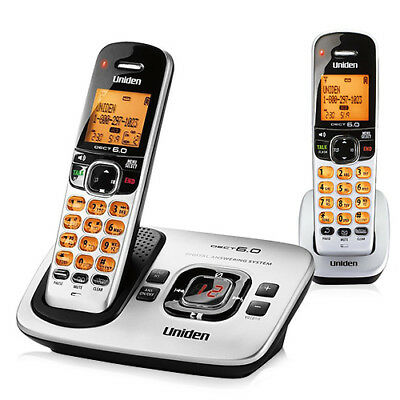 Uniden D1780-2 2 Handset Expandable Cordless Phone DECT 6.0 1.9GHz New