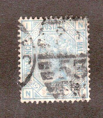 Great Britain 68 - Queen Victoria 2 1/2 Pence. Used.   #02 GB68