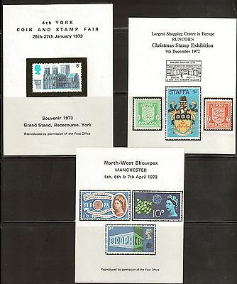 Great Britain Various Reproduction Souvenir Sheets. (7)  MH. OG.   #02 GBSS7