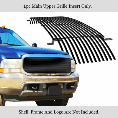Fits 1999-2004 Ford Excursion/F-250/F-350 S-Duty Black Stainless Billet Grille