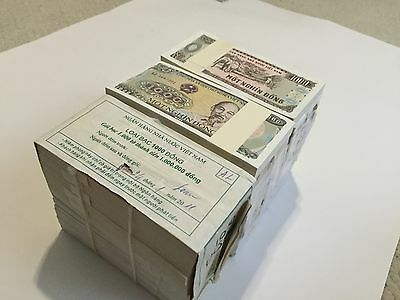 Vietnam 1,000 Dong X 1000 Notes Uncirculated Currency, 0Ne Brick, 1988, P-106,