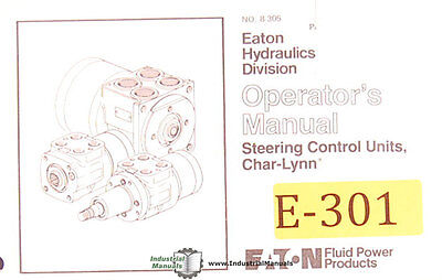 Eaton Char Lynn, Power Steering Control Units Operations Manual 1981