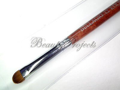 Nail Kolinsky French Brush #12 Red Wood High Quality Wood Brush With Packaging