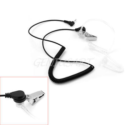 Acoustic Tube Earpiece Headset Coiled 3.5MM Jack for Motorola Radio Security