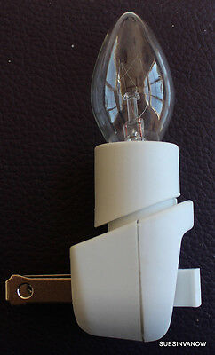 New Night light Replacement part Bulb switch White Safe Sturdy