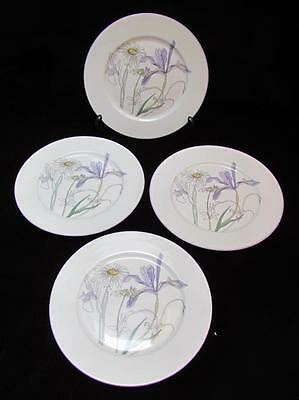 "Watercolors By Blockspal ""Hillside"" Mary Lou Goertzen Set of 4 Salad Plates 8"""