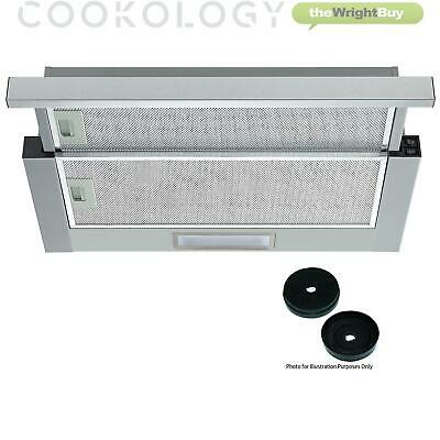 Cookology Integrated 60cm Telescopic Cooker hood TEL605SS | Twin Motor & Filters