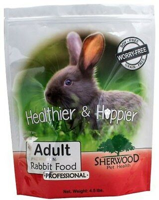 Rabbit Food-Sherwood PROFESSIONAL Adult - (Grain & Soy-Free) - 4.5 lb. (Vet Used