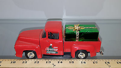1/25 Ertl Bank 56 Ford Pickup 94 Christmas Express Red With Package In Bed B967