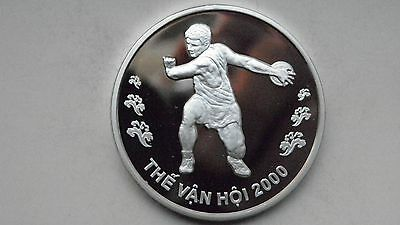 2000 Vietnam 100 Dong Discus Thrower Silver Proof coin