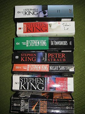 Original Lot of 7 STEPHEN KING Paperback Horror Books Novels 207