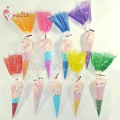 SMALL Cone Cello Bags 16x22cm | Party, Treat, Sweet Candy Gift Favor Empty Bags