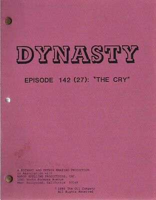 JOAN COLLINS - Original Vintage DYNASTY Script  'THE CRY' dated 1986 [C#43]