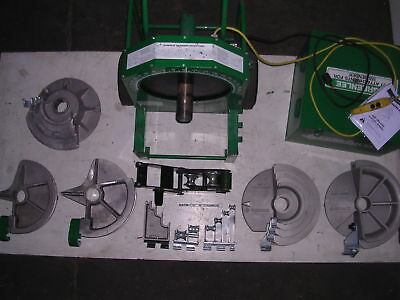 """GREENLEE 555 Conduit Pipe Bender 5 SHOES 4 ROLLERS! 1/2"""" to 2"""" EMT RIDGID IMC"""