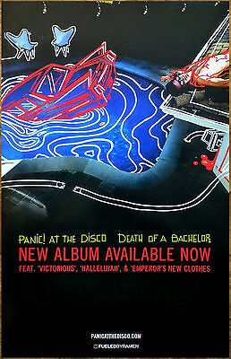 PANIC AT THE DISCO Death Of A Bachelor 2016 Ltd Ed RARE Poster +FREE Rock Poster