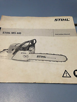 Stihl Instruction Manual MS 440 Chainsaw