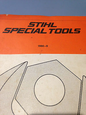 Stihl Special Tools  Manual 1986