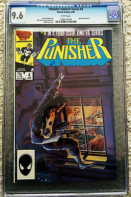 Punisher Limited Series #4 CGC 9.6 White Pages