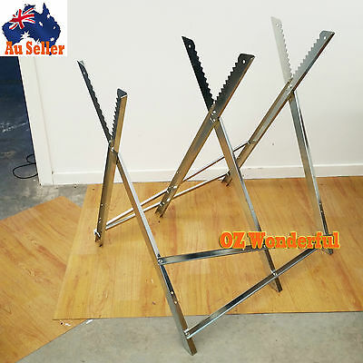 Portable Saw Horse Chainsaw Log Trestle Stand Non Slip Fire Wood Support Bench