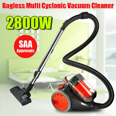 Powerful 3000W Cyclone Bagless Vacuum Cleaner Filtration System Floor Brush Kit