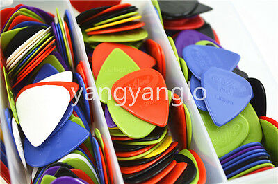 50pcs Alice Projecting Grip Nylon Acoustic Electric Guitar Picks Thick Optional