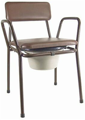 Aidapt Kent Stacking Commode Chair - Brown & Black