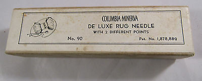 Deluxe Rug Needle Columbia Minerva Article No.90 orig box #2 #0 needles